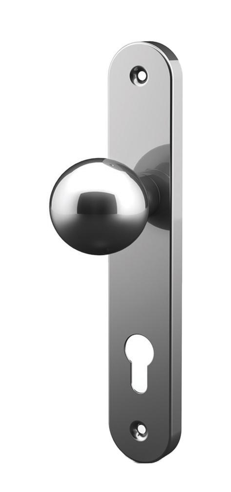 Perilla de la bola con la placa de acero inoxidable tropex - Placa acero inoxidable ...