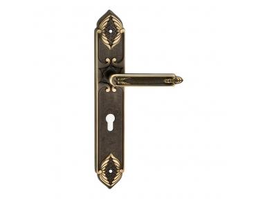 1010 Clase manija de la puerta en la placa amatista Frosio Bartolo Arquitectura Art Deco