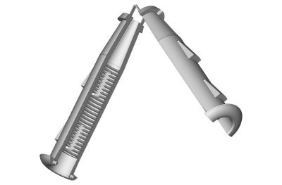 Pedazo de Cardine M12 afeitar pared 10mm ESINPLAST
