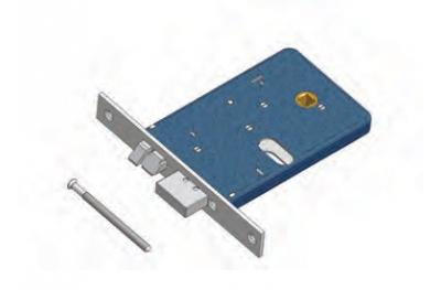 Cerrojo y pestillo de la cerradura Omec No reversible Aluminio Horno electrico