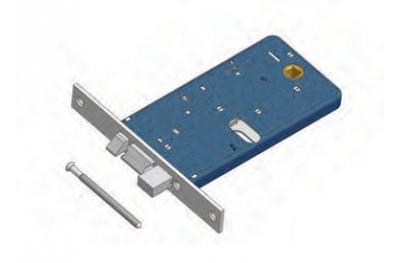 Cerrojo y candado de cierre Omec Aluminio Horno electrico