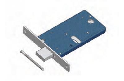 Omec gama cerradura de seguridad de Mecánica de aluminio