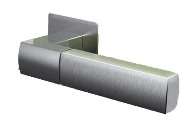 Pareja Tiradores Tropex Rodas satén plaza Rosetta inoxidable o rectangular