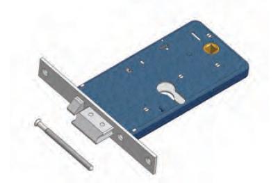 Cierre con cerradura eléctrica flujo Omec en el rango de aluminio