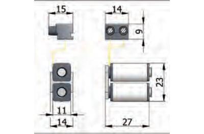 Cerradura eléctrica Bobinas Grupo Omec en el rango de aluminio