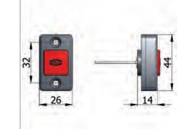 Botón de apertura mecánica Omec con tornillos de bloqueo eléctrico de rango