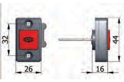 Botón mecánico Omec Día Inaugural en Fermo con tornillos de seguridad eléctricos