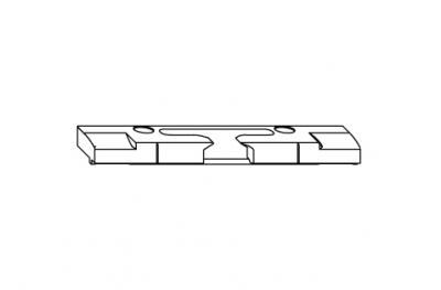 Voltear horizontal refleja S-ES-FH Siegenia Titan para Umbral PVC