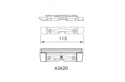Voltear horizontal refleja S-ES-FH Siegenia Titán de PVC para Aria