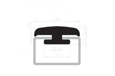 Sello de la celebración de vidrio destaca Complastex 10mm Caja Blanca 25m bobina
