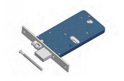 Rodillo ajustable y cerradura de seguridad de Mecánica de rango Omec Aluminio