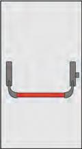 Maneje Pánico Omec Composición para puertas de una hoja de hoja bloquear un punto