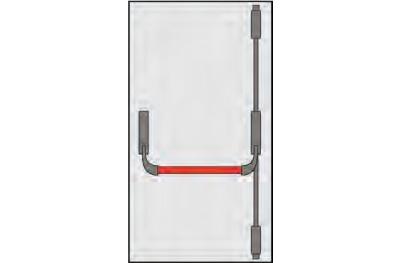 Maneje Pánico Omec puerta Puertas Composición dos o tres puntos de cierre