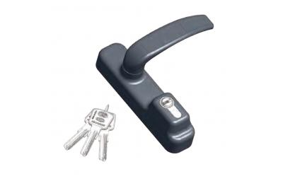 Accesorio placa Omec pánico con mango y cilindro de la llave plana