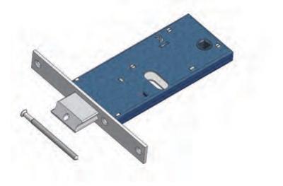 Pestillo ajustable Omec con Mandato gama Bloqueo de Mecánica de aluminio