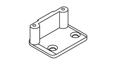 Cierre de placa DO ángulo pernos D = 8 mm Sin Anclajes con tornillos