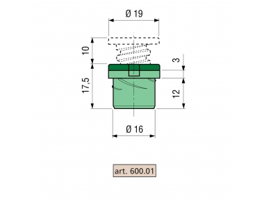 Spacer Proni Rápido-Lote Z / P serie 600 Cuerpo de Zama
