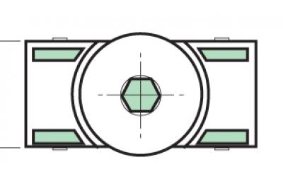 Spacer Proni Rápido-Block Series Giap Ventana Acostado