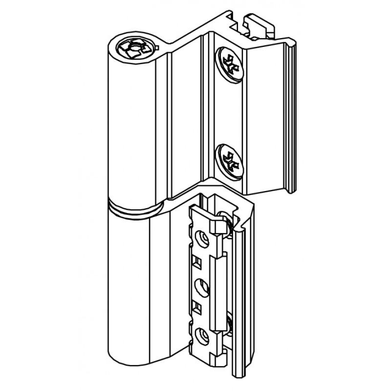 Bisagra Base Flash CE Art.00120U Giesse; Cámara Europea, para Aluminio.