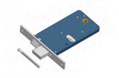 Cerrojo y candado de cierre de Mecánica de rango Omec Aluminio