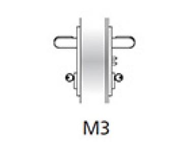Manejar equipo de emergencia Ninz M3 Fuego plástico de la puerta Negro s = 60 mm