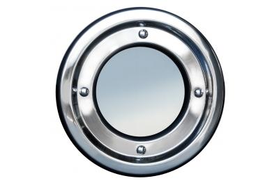 Ojo de buey de metal inoxidable redondas de acero fija Tenuta Colombo 18/8 AISI 304