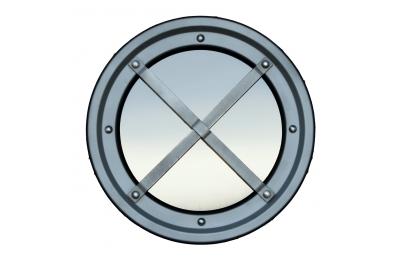 Ojo de buey de acero inoxidable barandilla metálica AISI 304 Tipo C Raised