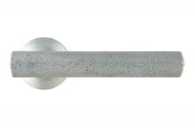 Juno Mango de Cemento Color Ash para puerta en roseta del diseñador Dubini para Mandelli