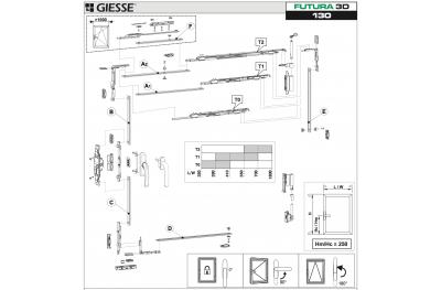 Anta Ribalta Futura 3D para Cremonese Configuración básica Giesse