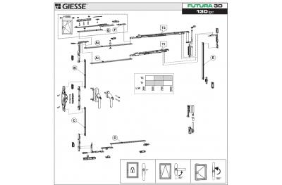 Anta Ribalta Futura 3D para Cremonese lógica configuración de base Giesse