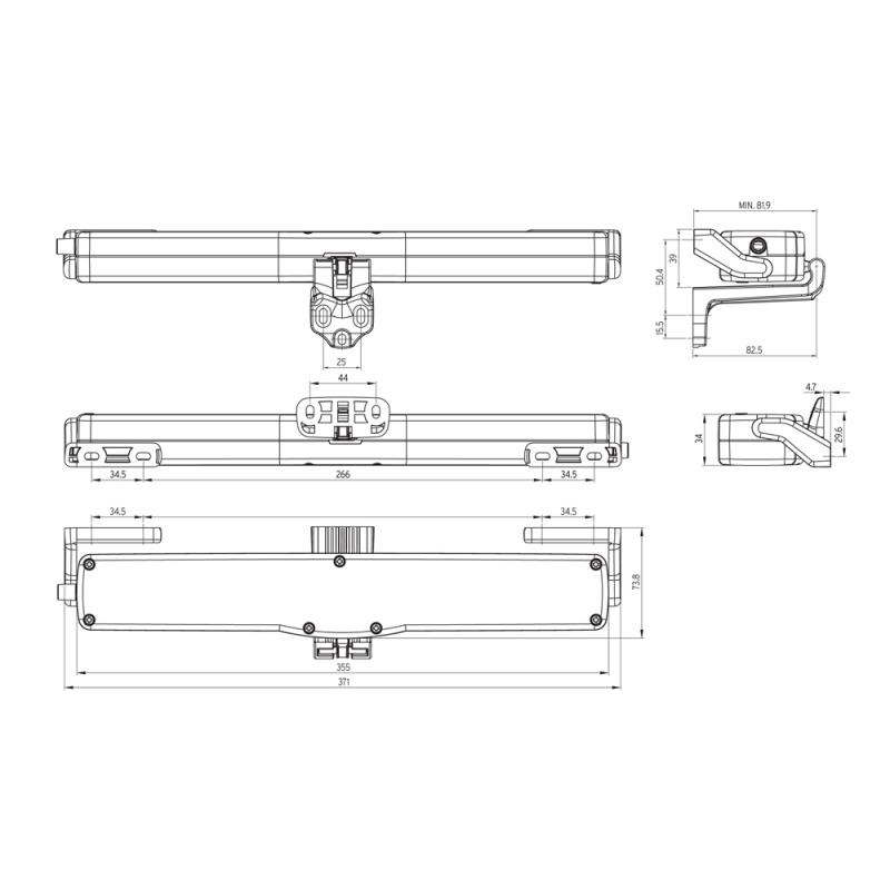 Actuador Cadena Kato 253 Nekos 230V 250N Stroke seleccionable 240 / 360mm