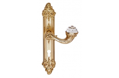 Brillant Crystal 1526 Manija en la Placa para Puerta Linea Calì Vintage