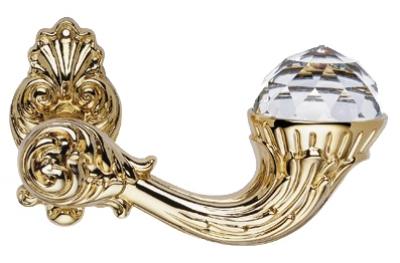 Brillant Crystal Oro Manija de Puerta en Rosette Linea Calì Vintage