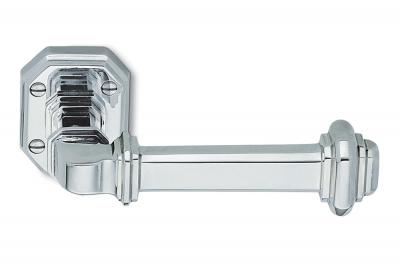 Tirador de puerta Busiri en plata natural de tipo noble fabricado en Italia por Antologhia
