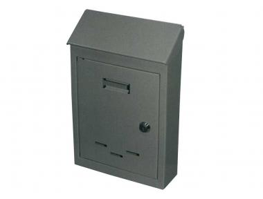 Mail Box con hierro pintado cilindro de la cerradura gris IBFM