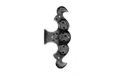 Bisagra Finta 175x75mm Galbusera de Hierro Forjado Puertas y Ventanas