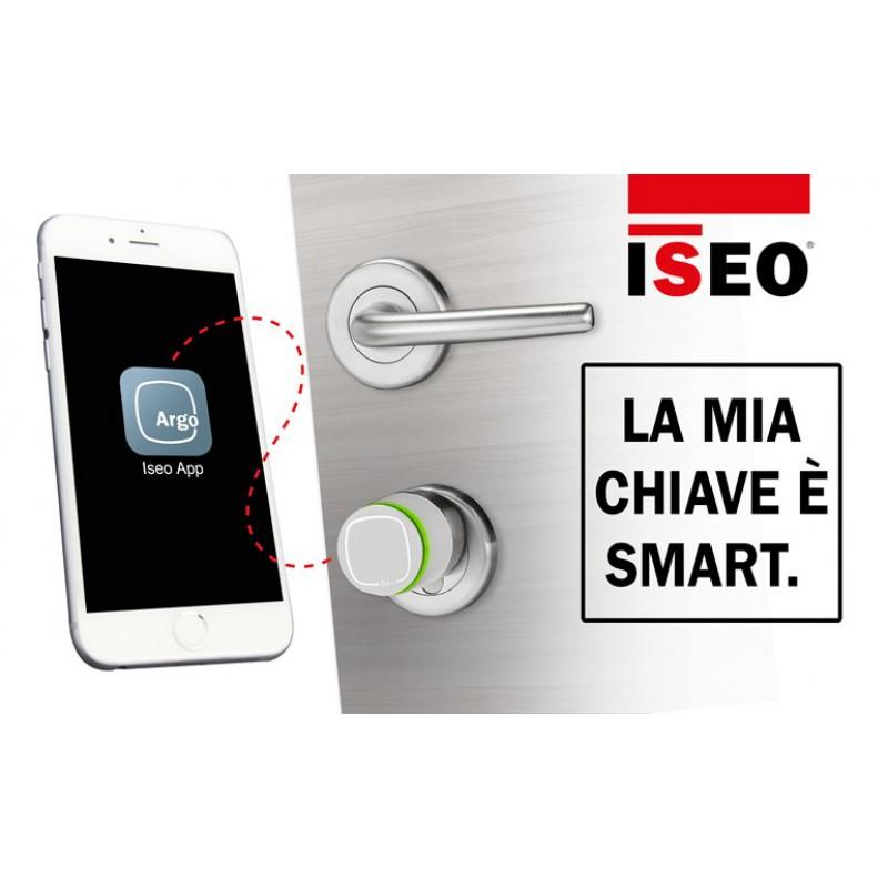 Jugador cilindro Libra estándar y Apertura Perilla Argo Iseo con Smartphone App