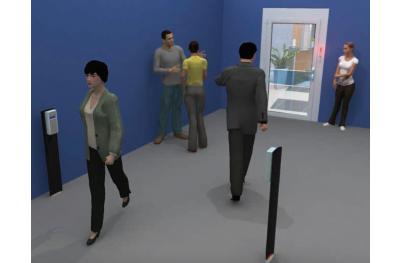Mostrador de personas con semáforo para Opera Presence Control Shop