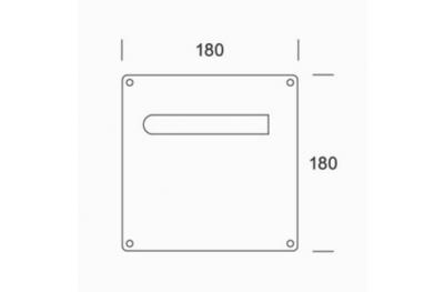 de manijas de acero inoxidable par de placas PBA 2MM.015.00A1 AISI 316L
