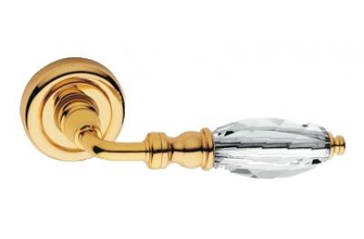 Diamante Oro Brillo Manija de Puerta en Rosette Linea Calì Crystal