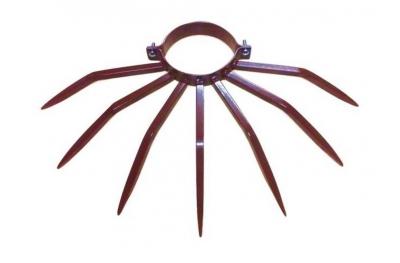 Diámetro del bolardo antirrobo 120 mm Grimpo para tubos externos Tipo Precipitación en acero pintado marrón