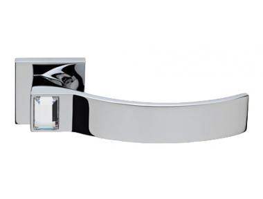 Elios Crystal Cromo Brillo Manija de Puerta en Rosette Linea Calì Crystal