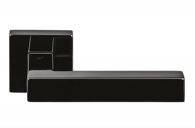 Tirador de puerta Ellesse Grafite negro en rosetón de Colombo Design
