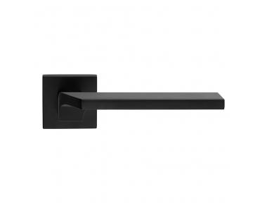 Manija de la puerta Giro Zincral negro mate en roseta con estilo italiano Línea creativa Calì Desig