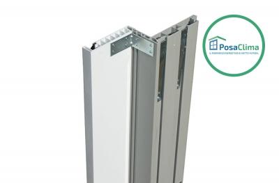 Guía para Persiana enrollable de PVC blanco del contramarco Klima Pro PosaClima