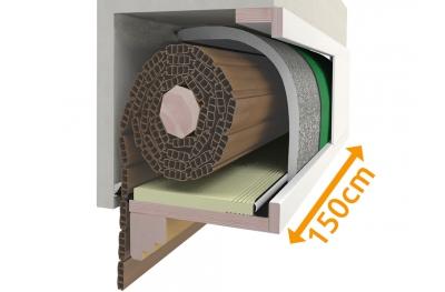 Caja Aislante Kit Persiana enrollable 150 cm Composición PosaClima Renova