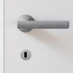 Alba pulido cromo y manija de satén para la puerta en Rosette Design Made in Italy Colombo Design