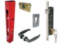 Kit Base Puertas Consta de bloqueo del tubo Tiradores Cilindro plaquetas IBFM