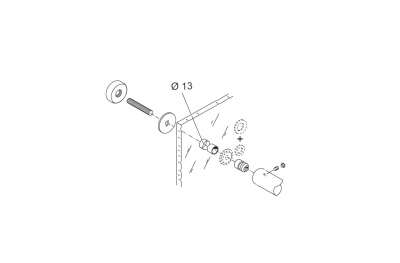 Kit de montaje para Mango PBA 02 de bucle simple para puertas de vidrio