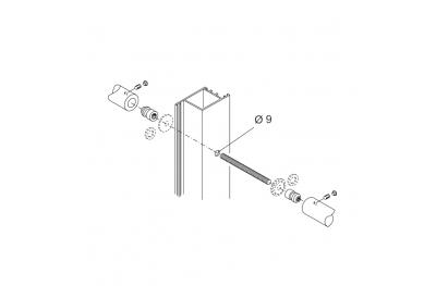 Kit de fijación PBA 710 maneja el torque para Puertas de Aluminio, Hierro, Madera
